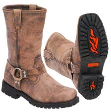 ride tech motorcycle boots men u0027s vintage brown ride tech harness boots bma14421n