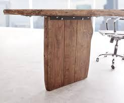 Schreibtisch Rund Schreibtisch Live Edge 180x180 Akazie Braun Gestell Schwarz