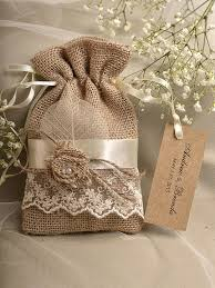 burlap favor bags rustic burlap wedding favor bag birch bark