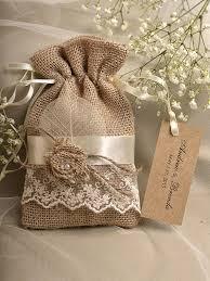 wedding favor bag rustic burlap wedding favor bag birch bark