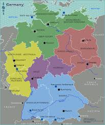 map of regions of germany germany regions map mapsof net