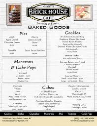baked goods menu brick house cafe