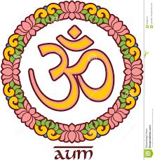 Lotus Flower With Om Symbol - om aum symbol in lotus frame stock photo image 33380470