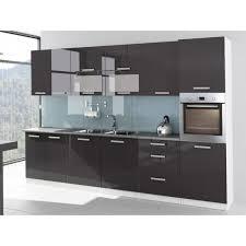 meuble four cuisine cuisine complète de 320 cm avec colonne four encastrable tara gris