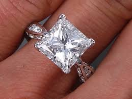 lab created engagement ring 3 81 ctw princess cut lab created engagement ring d si2