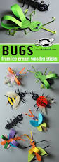 bugs from ice cream wooden sticks paper crafts pinterest