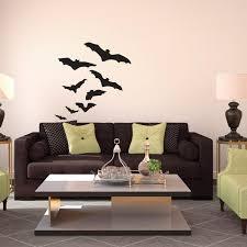 halloween flock of flying bats vinyl wall art decal for homes