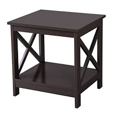 X Side Table Songmics X Design Sofa End Table Wooden Side Table