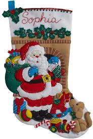 bucilla santa s visit felt applique kit 86702