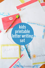 free printable kids letter writing set picklebums