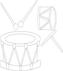 drum printable coloring page for kids