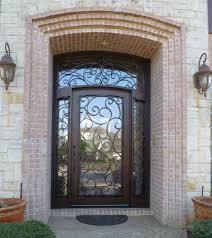 Exterior Door Units Custom Wrought Iron Door Sidelights And Transom Surround Unit