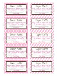 lovely ideas free printable baby shower raffle tickets template