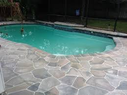 Cooldeck by Colored Concrete Pool Deck Ideas Flagstone Pool Deck Pool