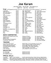 Public Speaking Skills Resume Joe Karam Actor Composer Resume