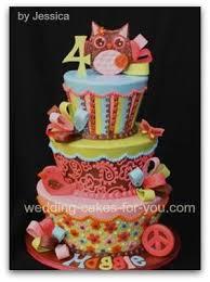 owl birthday cake groovy owl birthday cake