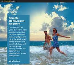 wedding registries for honeymoon personalising your registry our honeymoon registry