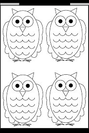 owl tracing and coloring u2013 4 halloween worksheets free printable