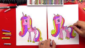 draw princess cadence art kids hub