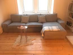 Ikea Kivik Sofa Grey Three Seat Sofa With Chaise Longue Grey Ikea Kivik New