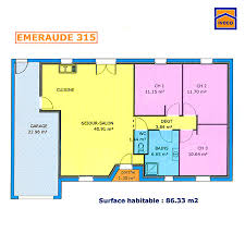 plan maison simple 3 chambres plan de maison individuelle plain pied