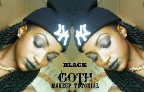 black goth makeup tutorial