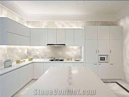 kitchen countertops of crystallized glass stone white quartz