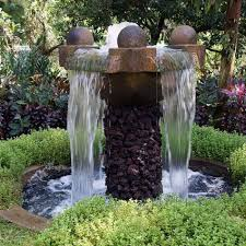 relaxing garden with outdoor wall fountains wearefound home design