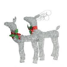 Glitter Deer Christmas Decor by 48