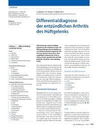 Sch E K Hen Differentialdiagnose Der Entzündlichen Arthritis Des Hüftgelenks