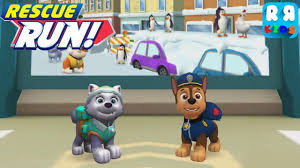 paw patrol rescue run downtown everest chase