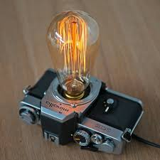 ancient camera style lamp retro camera desktop atmosphere lamp