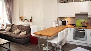salon avec cuisine ouverte amenager petit salon avec cuisine ouverte housezone info