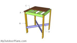 Diy Bistro Table Bistro Table Plans Myoutdoorplans Free Woodworking Plans And