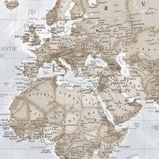 World Map Mural Giant Neutral World Map Mural By Maps International