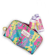 amazon com lilly pulitzer makeup bag spring 2013 with 2 matching