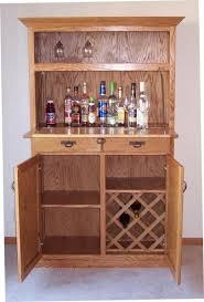 Oak Bar Cabinet Crafted Oak Liquor Cabinet By S Custom Woodwork