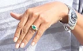 emerald rings uk zoe saldana shows emerald engagement ring from husband marco