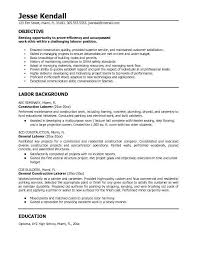 Resume Objectives Samples by Carpenter Resume Objective Construction Superintendent Resume