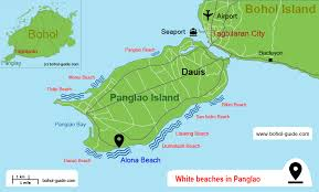 alona resort map panglao beaches in the philippines bohol guide