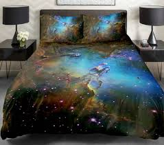 Space Bed Set Galaxy Universe Milkyway Duvet Quilt Sets