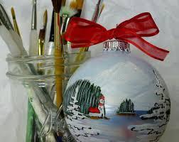 alaska balls painted ornaments by alaskaballs