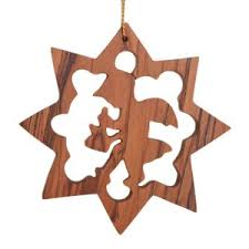 olive wood ornaments crafted in bethlehem in the holy