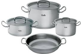 batterie de cuisine inox professionnel casseroles lignes original pro collection fissler