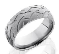 tire wedding rings men s titanium slick tire tread ring motorcycle tires