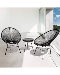 Black Patio Chair Amazing Deal On Sarcelles Modern Wicker Patio Chairs By Corvus