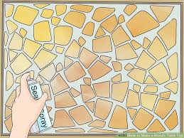 how to make a mosaic table top how to make a mosaic table top 15 steps with pictures wikihow