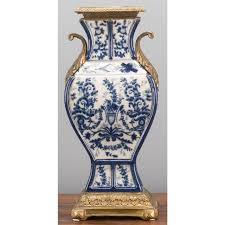 Chinese Blue And White Vase Chinese Oriental Blue And White Vase In Bronze Ormolu