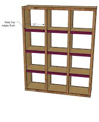 Woodworking Shelf Plans by Ana White Rolling Room Divider Cubbies Diy Projects