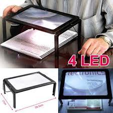 loupe de bureau mains libres mains libres pour la lecture ultra mince a4 pleine page grand pvc